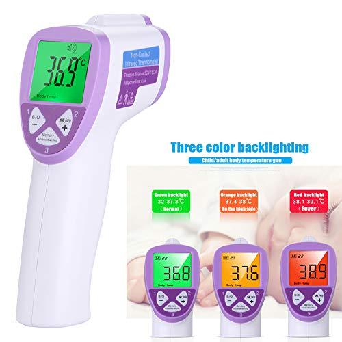Zaoyun Termometro Digitale senza Contatto Jumper Termometro Bambino Professionale a Infrarossi con Lettura Immediata Allarme Febbre Adatto per Neonati Bambini Adulti