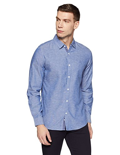 United Colors of Benetton Men's Solid Slim Fit Cotton Casual Shirt (18P5EC08U008I_Grey_L)