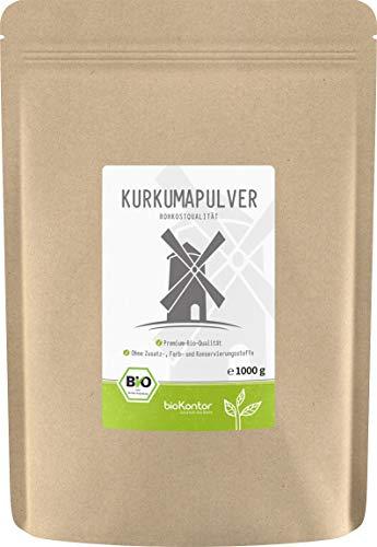BIO Kurkuma Pulver gemahlen 1000g / 1 kg | Kurkumapulver - Curcuma - Curcumin | 100{c31b299a7374119919fd02f306a4761c3ed111fdb1bb9bdd9d6ea3d04f53de1b} naturrein | Rohkostqualität | aus Indien von bioKontor