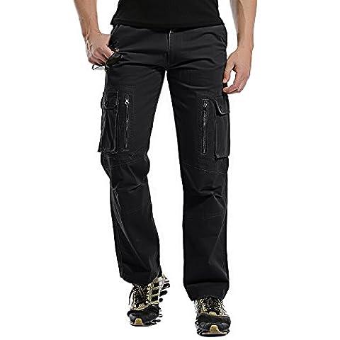 AYG Homme Cargo Pantalon Militaire Camo Pants Camouflage Cargo Pants(black,36)