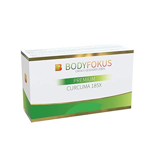 BodyFokus Premium Curcuma 185X | Hochdosierter Kurkuma-Extrakt | Mizellentechnologie