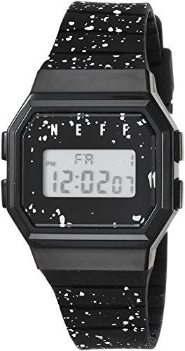neff Automatic Plastic and Polyurethane Sport Watch, Color:Black (Model: BLSPNF0204)