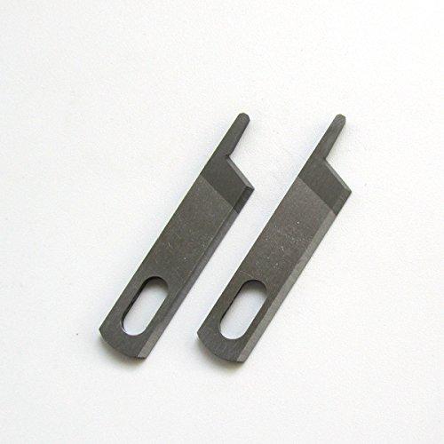 kunpeng–2pcs superior cuchillo cuchilla para Singer Serger 14U, 14CG, 14SH Consew riccarlock Pfaff # 412585