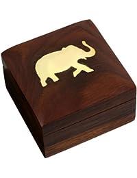 Wooden Jewelery Box Handmade Unique Gift for Her 7.62 cm x 7.62 cm x 5.08 cm