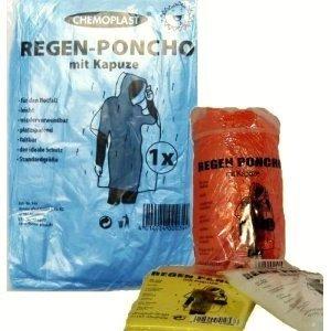 1 x Notfall Regenponcho Regen Poncho Ponchos Kapuze Regenjacke Festival Konzerte Fussball Camping , Fb.:gelb