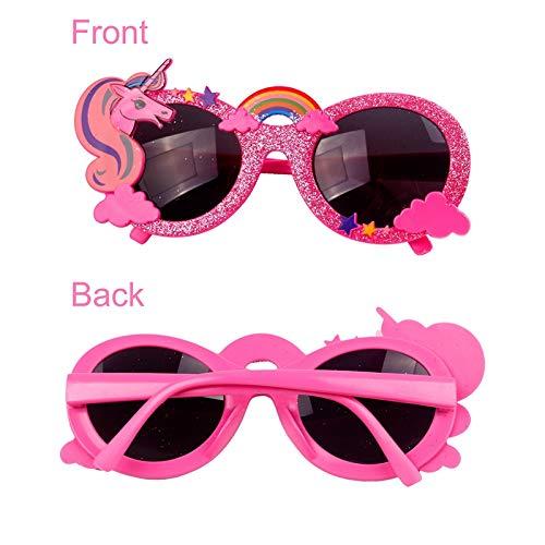 Sonnenbrille Einhorn Party Festival spaß Brille für Kinder Mädchen Beste Unicorn Regenbogen Partybrillen Geschenk für Kind Mädchen Alter 3 4 5 6 7 8 9 10 11 Jahr süß Einhorn Kinder Party Deko