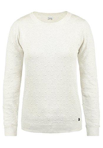 DESIRES Kiki Damen Strickpullover Feinstrick Pullover Mit Rundhals Aus 100% Baumwolle, Größe:M, Farbe:Oyster Grey (8215) -