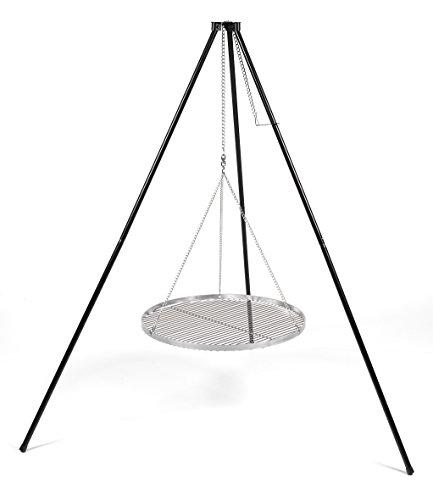Schwenkgrill Dreibein mit Edelstahlgrillrost 50 cm stufenlos in der Höhe verstellbar