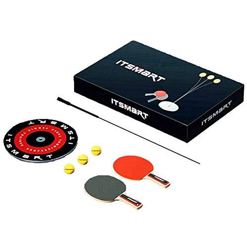 Tischtennisschläger Set, Tischtennistrainer für Kinder Tischtennis Trainer mit elastischem Soft Shaft Freizeit Dekompressions-Tischtennistrainer zum Streicheln für den Innen- oder Außenbereich