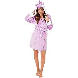 Loungeable Femmes Combinaison en Polaire de Luxe Super Doux Lounge Pyjama Robe - - Taille-M