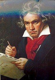 Stieler: Ludwig van Beethoven. Postkarte