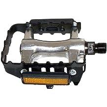 MTB - Pedal, color plateado y negro (2 unidades)