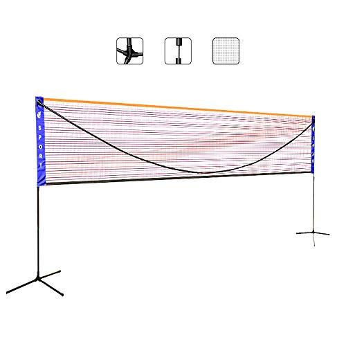 BENPAO Tragbares Badminton-Netz-Set - 3 Höhenverstellbar Einfach mit Tragetasche zu installieren - für Fußball-Tennis-Pickleball-Volleyball-Rasen-Strand-Auffahrt