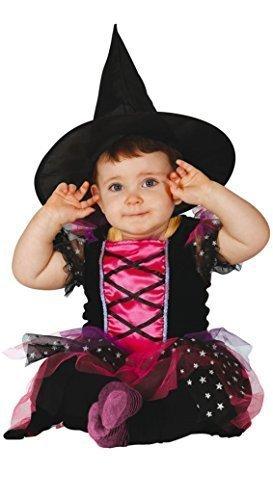 Baby Girls Pink Witch Halloween Fancy Dress Costume Outfit 6-12 ...