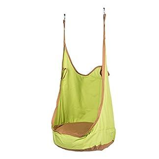 CO-Z Silla Colgante Columpio y Hamaca para Niños Capacidad 80kg Swing con Cojín Inflable para Exteriore Interior Terraza Patio Porche Jardín Fuerte y Resistente (Verde)