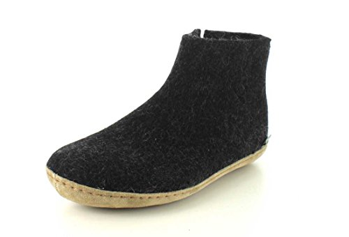 Glerups G-01-00 Pantofole In Feltro Adulto Unisex Color Carbone