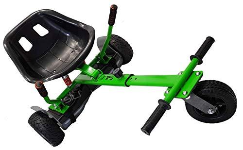 SILI® Off-Road-Fahrwerk für 2-Rad-Self-Balance-Roller, verbessertes Design mit Federung unter dem Sitz (Grün)