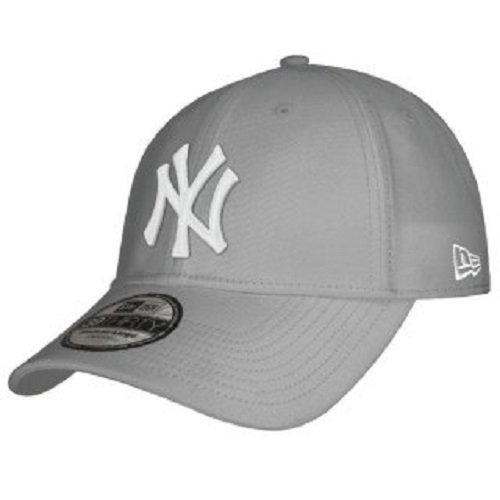 New Era Herren Baseball Cap Mütze M/LB Basic NY Yankees 39Thirty Stretch Back, Grey/White, S/M, 10298279