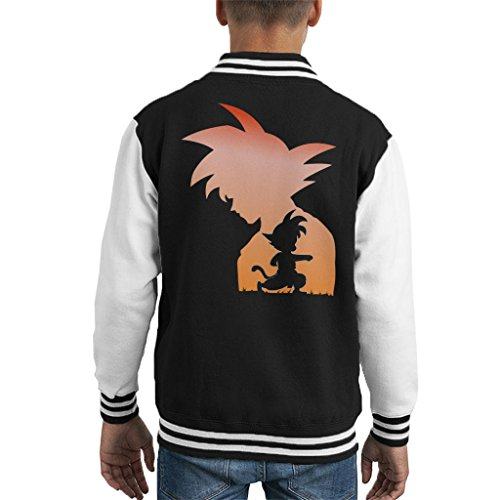 Dragon Ball Z Young Son Goku Silhouette Kid's Varsity Jacket