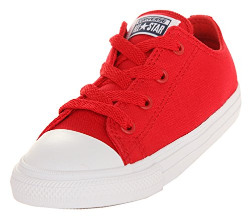 Converse Chuck Taylor All Star II Ox Salsa Red Textile Baby Trainers