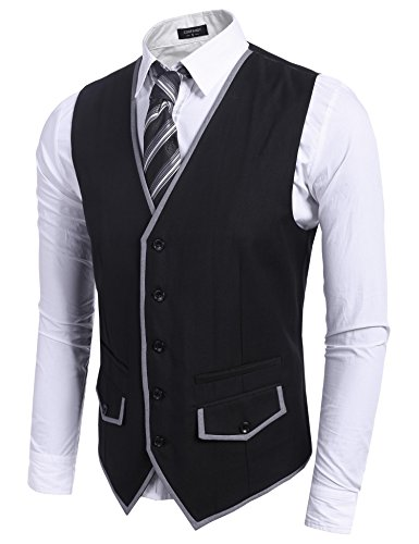 ckjacke Gr. XX-Large, schwarz (Gilet De Costume Noir Homme)