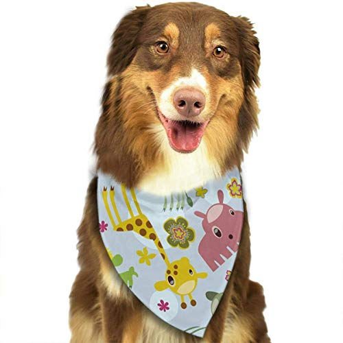 Gxdchfj Animal Safari Pattern Triangle Bandana Scarves Accessories for Pet Cats and Dogs - Gifts