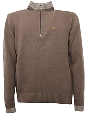 B5306 maglione uomo ETRO tortora wool sweater mem