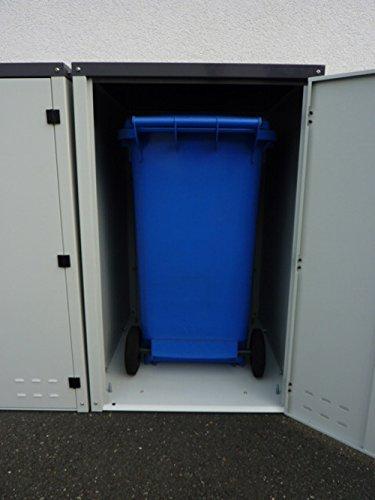 Mülltonnenbox aus Metall für 2x 120 oder 2x 240 liter MB75 DUO