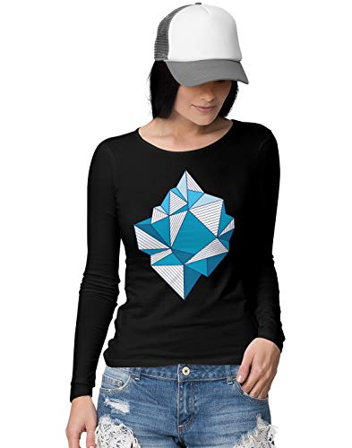 BLAK TEE Damen Abstract Iceberg Art Langarmshirt S -
