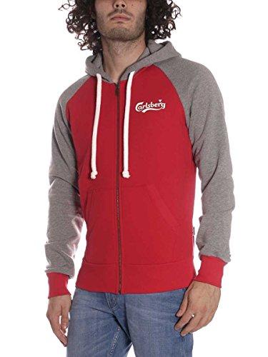 carlsberg-sweat-shirt-a-capuche-homme-rouge-rouge-l