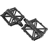 Pedales de Plataforma de Bicicleta Antideslizante 1 Par 5 Colores Cojinete Sellado Aluminio Ligero ( Color : Negro )
