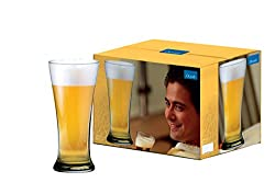 Ocean Pilsner Glass, Set of 6, 400ml, Transparent (5B0091406G0000)