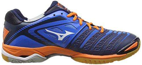 Mizuno Wave Stealth 3, Herren Handballschuhe Blau (directoire Blue/orange)