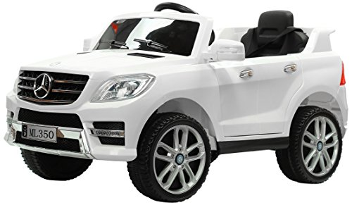 Kalco TOYS UK KALCO_ML350_12V_WHITE 2018 Mercedes Electric Ride on Kids Car with Remote Jeep