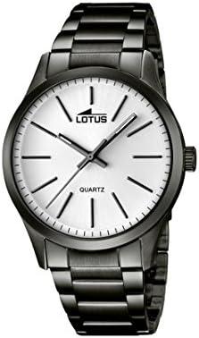 Lotus 18162/1 - Reloj de pulsera hombre, Acero inoxidable, color Negro
