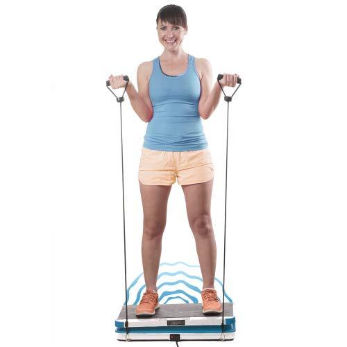 Genius Vibrationsplatte | Rüttelplatte Sport für zuhause | Sportgerät und Fitnessgerät | Body Shaper | Bauch Beine Po Trainingsgerät