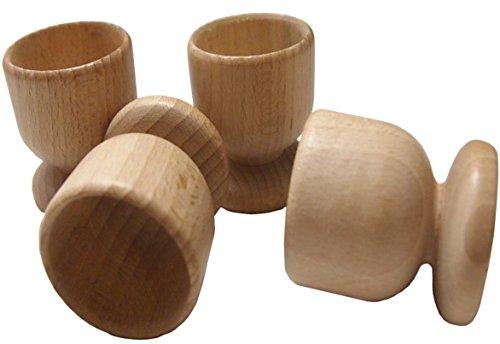 Set di portauovo in legno di faggio