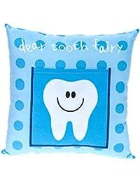 Enfants's Boys/ Girls Tooth Fairy Money Pillow Cushion avec Note/ Letter Pocket -Bleu