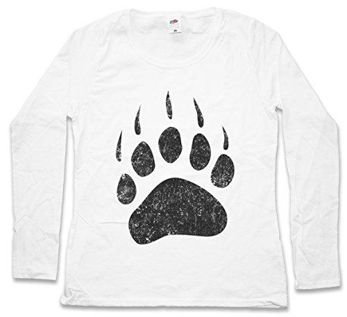 Urban Backwoods Bear Paw Damen Langarm T-Shirt - Größen XS - 2XL (Hunting Redneck Shirts)