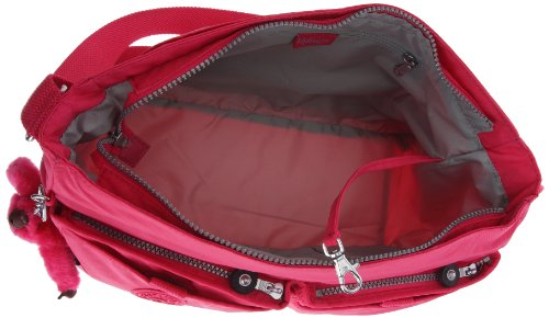 Kipling K15153, Borsa a tracolla donna, 17x26x37 cm (L x A x P) Rosso (Rot (Peony 183))
