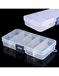 Demarkt 2 X Boîte Vide Rangement Faux Ongles Capsule Nail Art Manucure Plastique Stockage