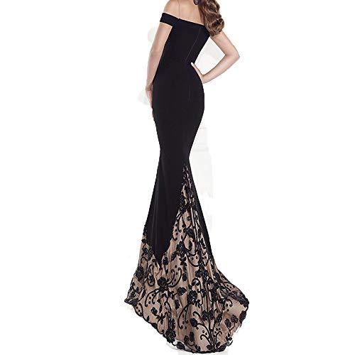 a72d26044c97 Vestiti Donna Eleganti Estivi Lunghi Vestito Da Cerimonia Chiffon Di  Paillettes Abiti Da Sera Ragazza Senza