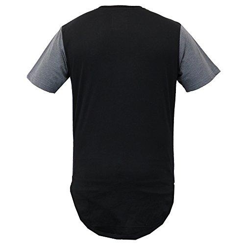 Herren Lang Leine Kurzärmelig Netz T-shirts Von Soul Star Schwarz - ROGUELPKA