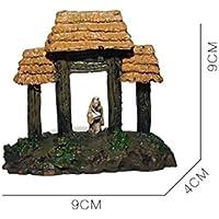 Komener Aquarium Ornament Ornamento del pabellón de la Pagoda del Acuario para la decoración del Paisaje del Acuario