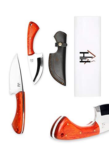 Hobby Hut HH-307, Custom Handgemachtes Jagdmesser, 01 Kohlenstoffstahl, feststehende Messer, Extra Scharf, Fixed Blade Messe für Camping Jagd mit lederscheide