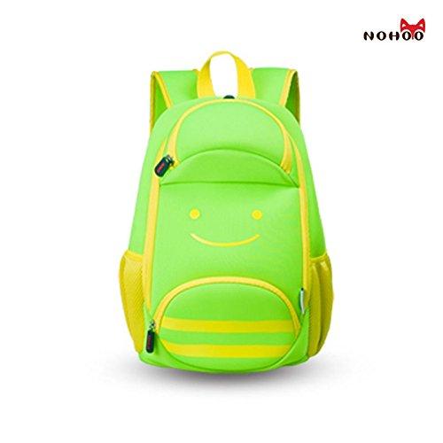 GreenForest bambini regalo bambino bambini zaino - Cartoon Bee Design Pack Green(14.2*9.1*5.5 inch) - Natale regalo per 3-8 anni