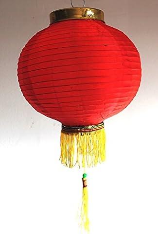 AAF Nommel ® Lampion 1 Stk. Nylonstoff rot rund Ø 25 cm, asiatisch traditionell, Nr. 125