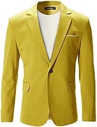 FLATSEVEN Chaqueta Blazer Slim Fit Casual Premium Hombre