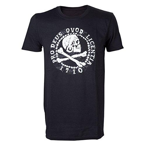 Meroncourt Herren T-Shirt Pro Deus Qvod Licentia 1710 Black