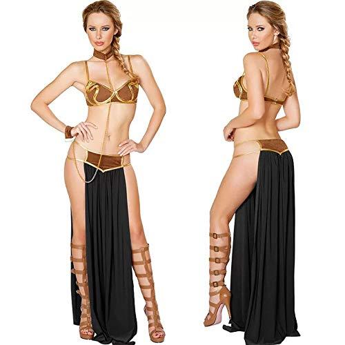 FHSIANN Frauen Halloween Prinzessin leia sklave kostüm sexuell arabisch erotik Porno Spiele Kleid - Arabische Prinzessin Kostüm Frauen